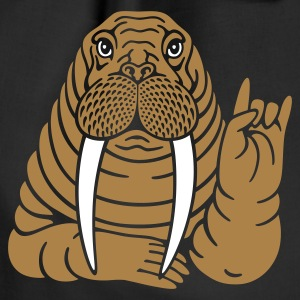Rocker Walrus - Drawstring Bag