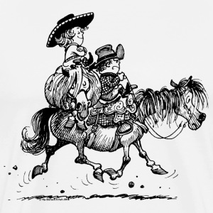 Thelwell 'Two Cowboys' T-shirts - Herre premium T-shirt