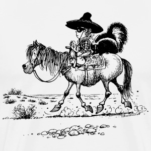 Thelwell 'Cowboy with a skunk' T-Shirts - Men's Premium T-Shirt