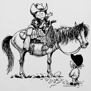 Thelwell 'Cowboy with Pony' Bags & Backpacks - Tote Bag