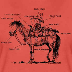 Thelwell 'Learning Western riding' T-shirts - Dame premium T-shirt