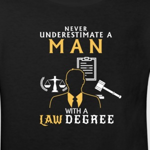 UNDERESTIMATE NEVER A MAN OF LAW STUDIED! Shirts - Kids' Organic T-shirt