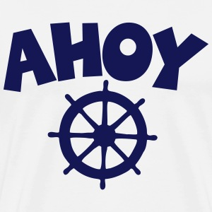Ahoy Wheel Segel Design T-Shirts - Men's Premium T-Shirt