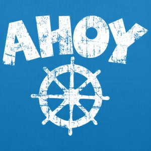 Ahoy Wheel Sail Design (White) Bags & Backpacks - EarthPositive Tote Bag