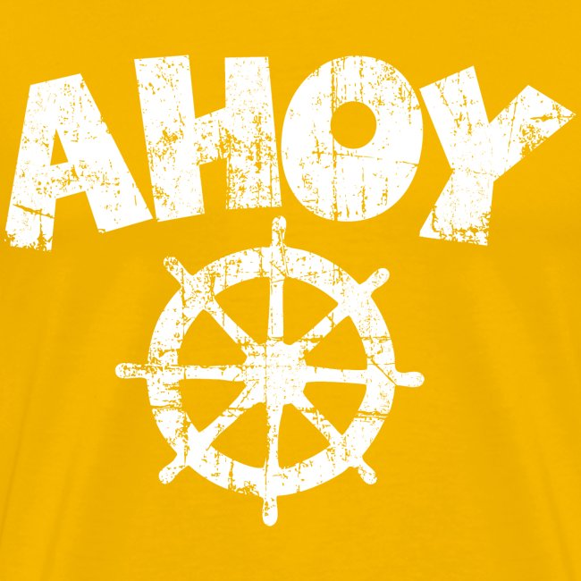 Ahoy Wheel Vintage (Weiß) S-5XL T-Shirt