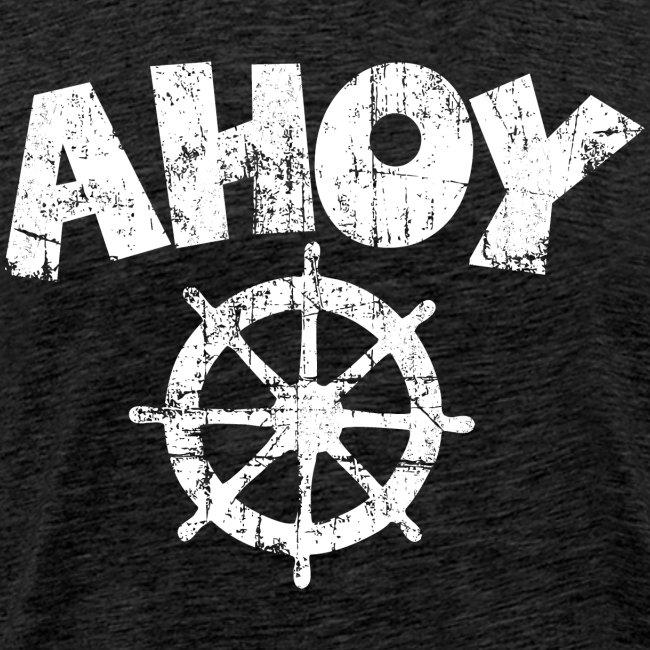 Ahoy Wheel Vintage (Weiß) S-5XL T-Shirt