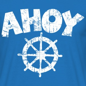 Ahoy Wheel Sail Design (White) T-Shirts - Men's T-Shirt