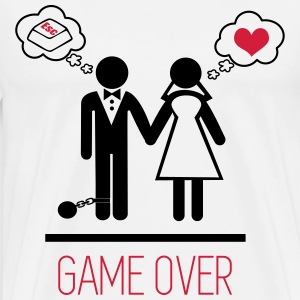 T-shirt couples game over - T-shirt Premium Homme