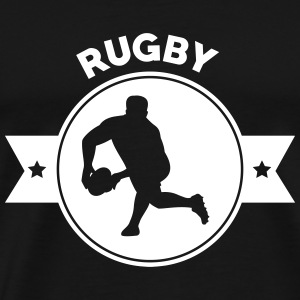 Rugby - Rugbyman - Sport - Fighter - Fight T-shirts - Herre premium T-shirt