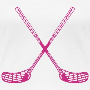 Floorball Sticks T-Shirts - Women's Premium T-Shirt