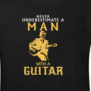 NEVER UNDERESTIMATE A MAN WITH A GUITAR! Shirts - Kids' Organic T-shirt