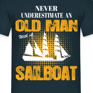 Never Underestimate An Old Man With A Sailboat T-Shirts - Men's T-Shirt