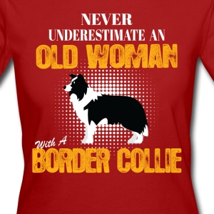 Old Woman With A Border Collie T-Shirts - Women's Organic T-shirt