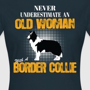 Old Woman With A Border Collie T-Shirts - Women's T-Shirt