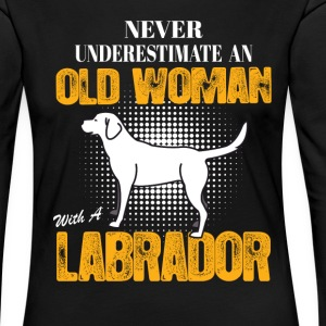 Old Woman With  A Labrador Long Sleeve Shirts - Women's Premium Longsleeve Shirt