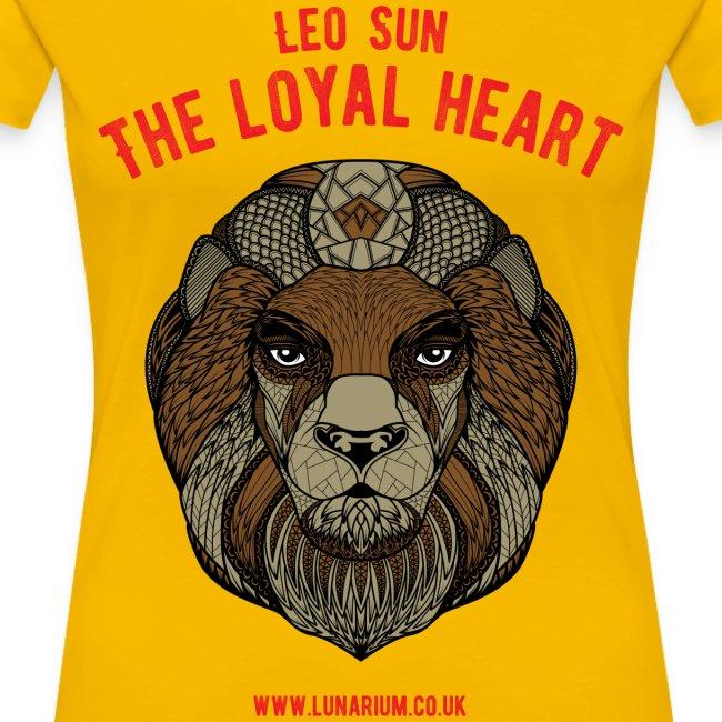 Leo Sun Sign Women's Premium T-Shirt