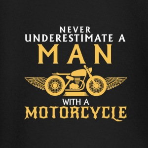 UNDERESTIMATE NEVER A MAN AND HIS MOTORCYCLE. Baby Long Sleeve Shirts - Baby Long Sleeve T-Shirt