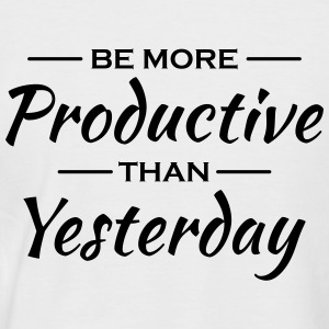 Be more productive than yesterday T-shirts - Kortärmad basebolltröja herr
