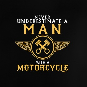 UNDERESTIMATE NEVER A MAN AND HIS MOTORCYCLE. Baby Shirts  - Baby T-Shirt