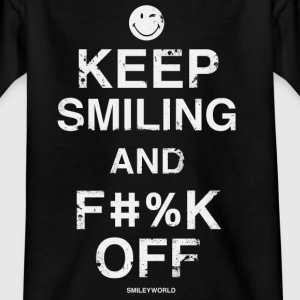 SmileyWorld Keep Smiling and F#%K Off - Camiseta adolescente