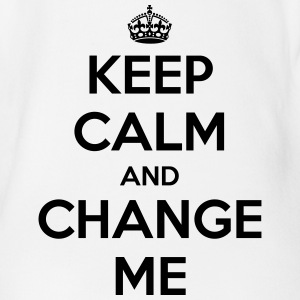 Keep calm and change me Babybody - Økologisk kortermet baby-body