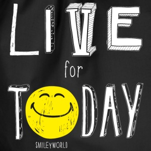 SmileyWorld Live for Today - Drawstring Bag