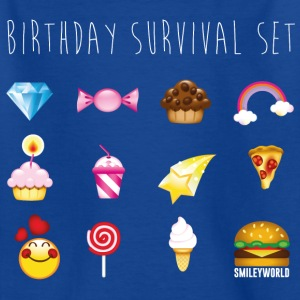 SmileyWorld Kit Anniversaire Birthday Survival Set - T-shirt Enfant