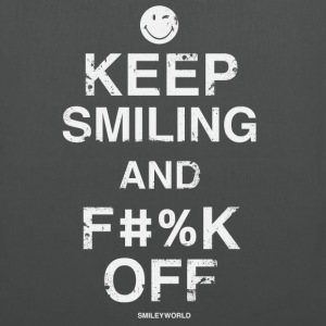 SmileyWorld Keep Smiling And F**k Off - Tote Bag