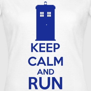Keep Calm And Run Tee shirts - T-shirt Femme