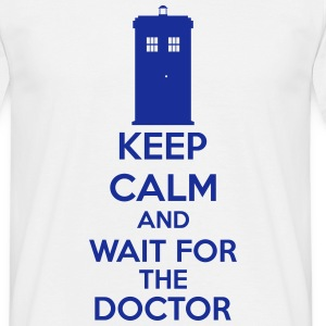 Keep Calm And Wait For The Doctor T-shirts - T-shirt herr