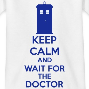 Keep Calm And Wait For The Doctor Koszulki - Koszulka dziecięca