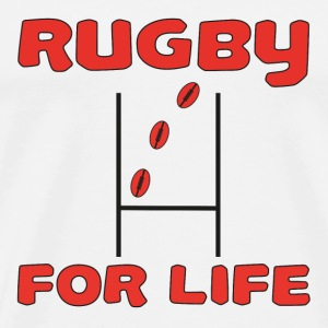 Rugby for life T-shirts - Mannen Premium T-shirt