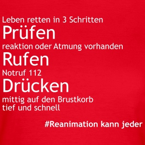Reanimation_in_3Schritten T-Shirts - Frauen T-Shirt