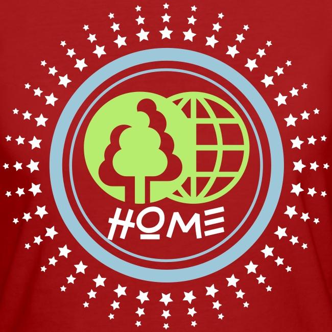 Tee shirt Bio Femme Planète home Sweet home