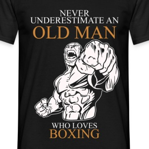 Never Underestimate An Old Man Boxing.png T-Shirts - Men's T-Shirt