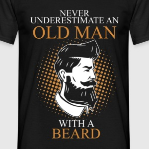 Never Underestimate An Old Man Beard.png T-Shirts - Men's T-Shirt