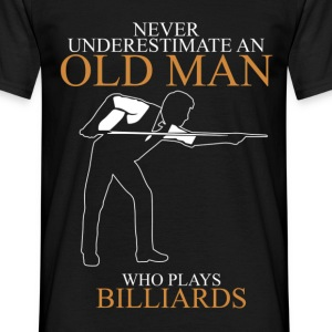 Never Underestimate An Old Man Billiards.png T-Shirts - Men's T-Shirt