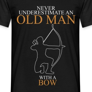 Never Underestimate An Old Man Bow.png T-Shirts - Men's T-Shirt