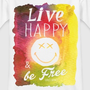SmileyWorld Live Happy & be Free - Kids' T-Shirt