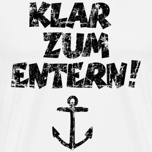 Klar zum Entern Vintage Segel Design Schwarz