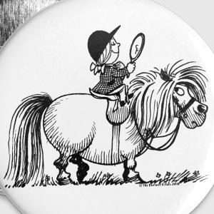 Thelwell - Penelope with a mirror Buttons & badges - Buttons/Badges stor, 56 mm