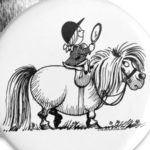 Thelwell - Penelope with a mirror Buttons - Buttons large 56 mm