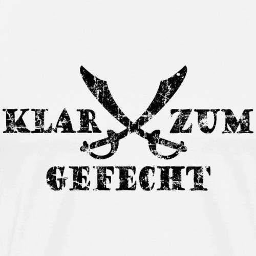 Klar zum Gefecht Piraten Säbel Vintage Schwarz