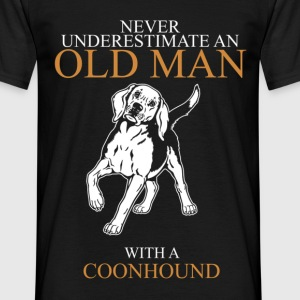 Never Underestimate An Old Man Coonhound.png T-Shirts - Men's T-Shirt