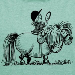 Thelwell - Penelope with a mirror T-shirts - Vrouwen T-shirt met opgerolde mouwen