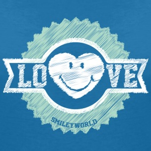 SmileyWorld Love Badge - Women's V-Neck T-Shirt
