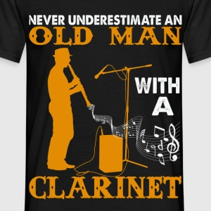 Never Underestimate An Old Man with a Clarinet.png T-Shirts - Men's T-Shirt