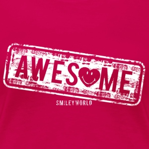 SmileyWorld Awesome Stamp - Women's Premium T-Shirt
