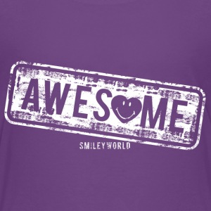 SmileyWorld Awesome Stamp - Teenage Premium T-Shirt