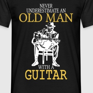 Never Underestimate An Old Man With A Guitar .png T-Shirts - Men's T-Shirt
